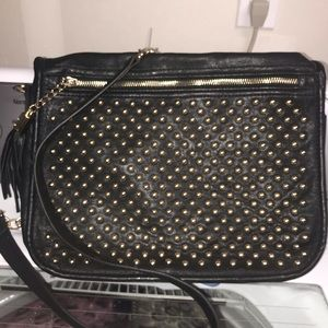 Forever 21 gold studded leather purse